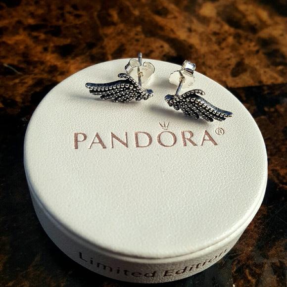 aa790653f Pandora Jewelry | Majestic Feathers Stud Earrings 925 | Poshmark